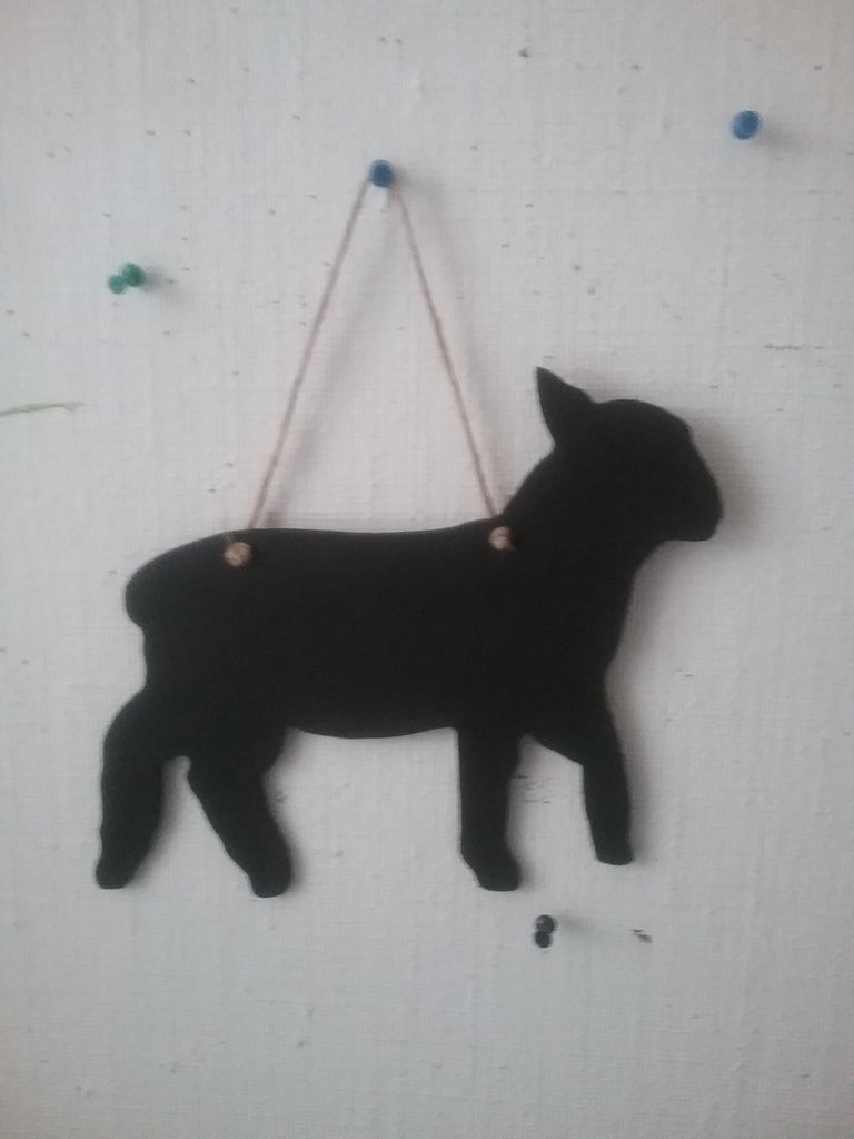 LAMB shaped chalk boards Farm animal & pet handmade blackboards any shape can be made any size - Tilly Bees