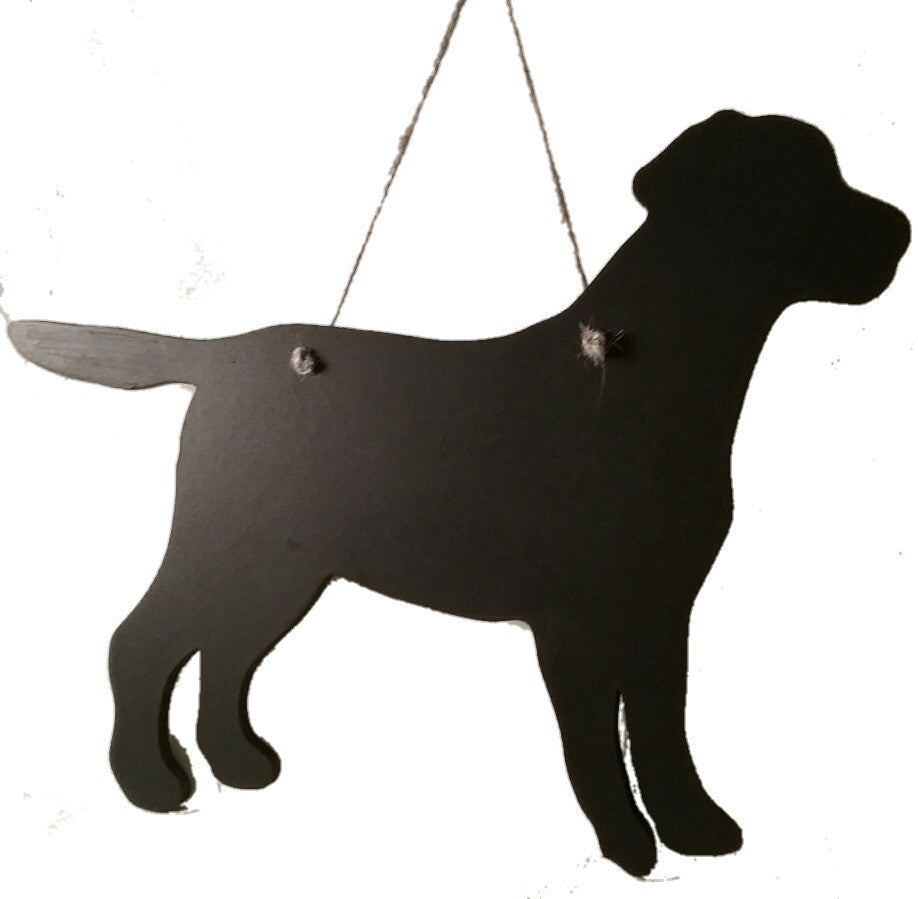 Labrador Dog Shaped Black Chalkboard Christmas Birthday gift present pet supplies - Tilly Bees