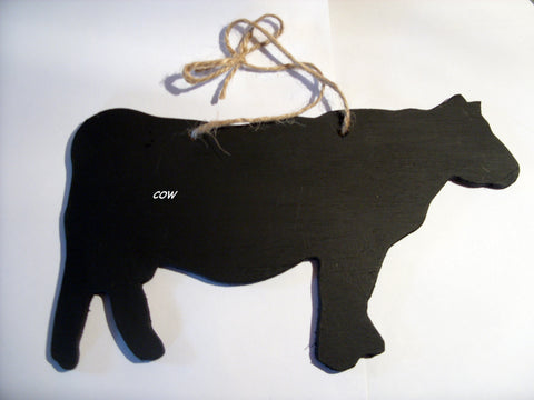 COW shaped chalk boards Farm animal & pet handmade blackboards any shape can be made to order