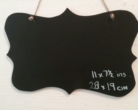 FANCY edged a4 size oblong Chalkboard sign shop cafe menu memo board wedding prop party supplies
