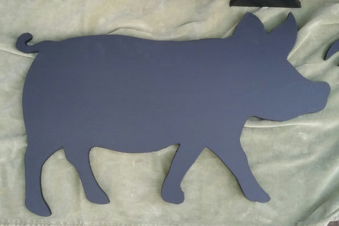 Large PIG shaped chalkboard Farm animal & pet handmade blackboards butchers shop selling milk sign open farm memo board