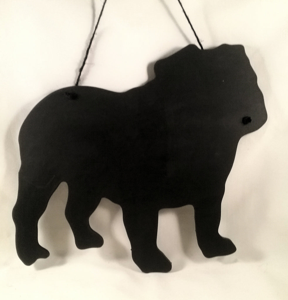 Bulldog Dog Shaped Black Chalkboard gift present pet supplies dog lover gift - Tilly Bees