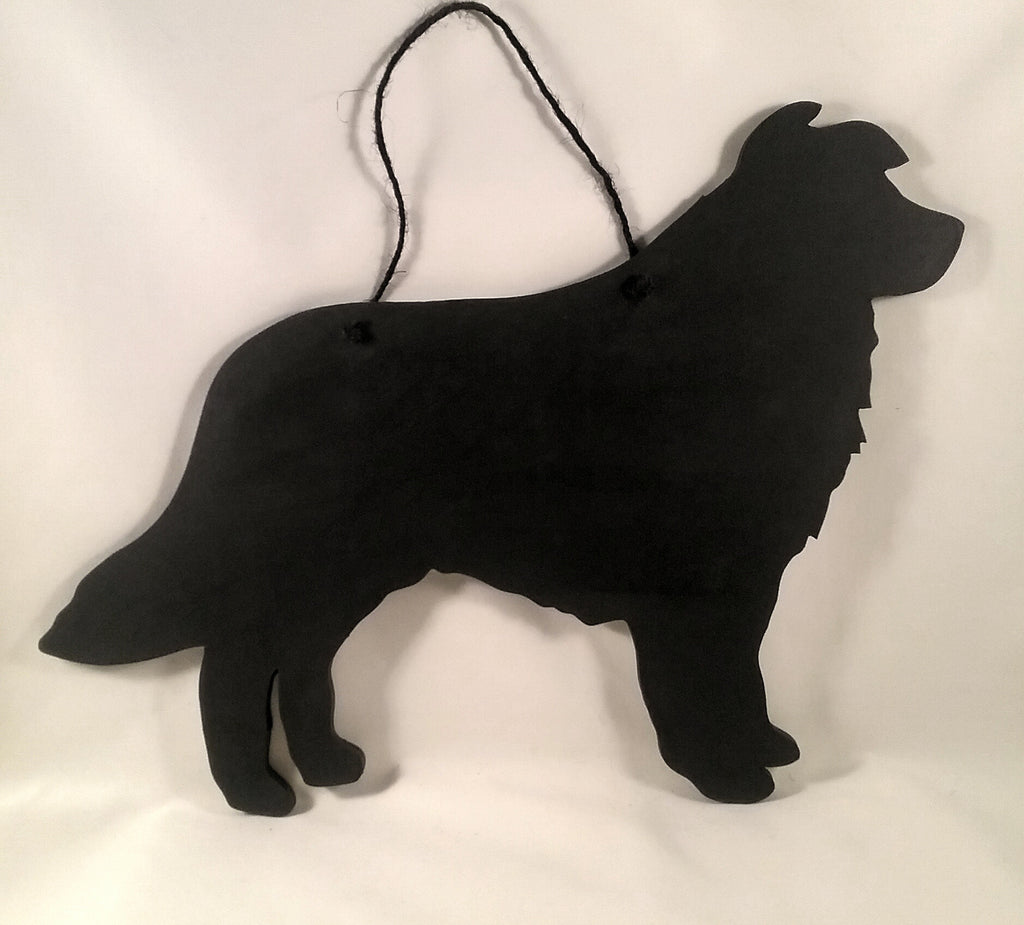 Border Collie / Sheep Dog - New shape Collie Dog Shaped Black Chalkboard unique handmade gift - Tilly Bees