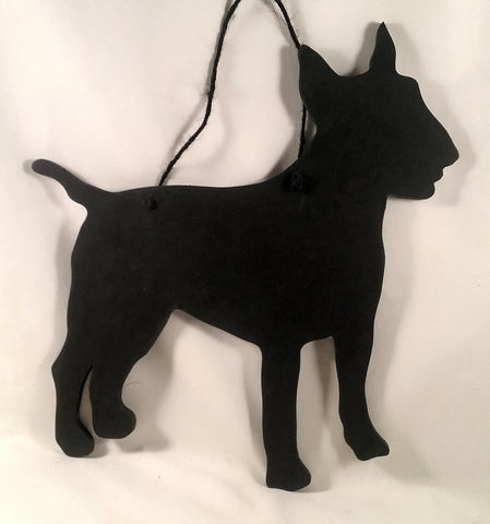 Bull Terrier Dog Shaped Black Chalkboard gift present pet supplies