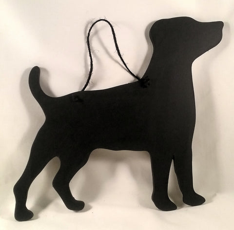 Jack Russell Terrier type Dog Shaped Black Chalkboard pet supplies dog lover gifts