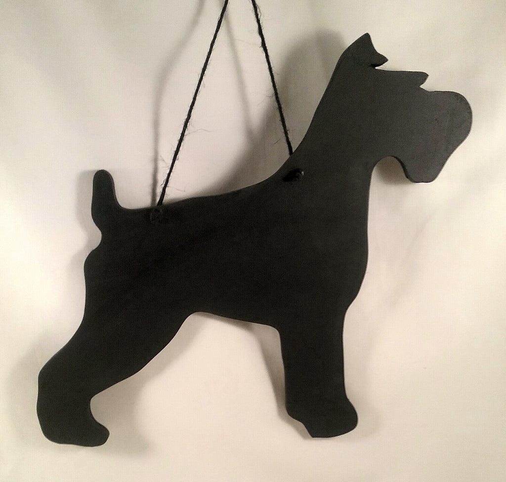 Schnauzer Miniature Schnauzer Dog Shaped Black Chalkboard Christmas Birthday gift present dog lover gift pet supplies - Tilly Bees