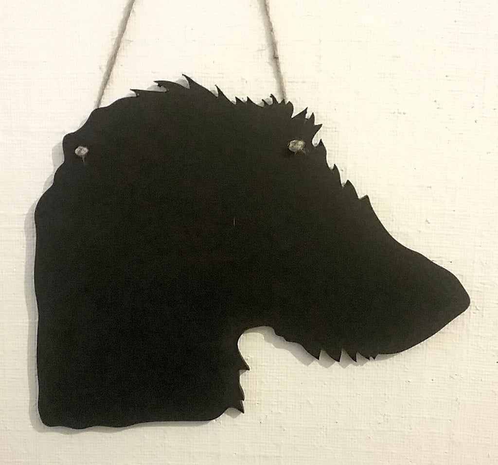 Lurcher whippet greyhound Dog Shaped Black Chalkboard handmade unique gift pet puppy - Tilly Bees