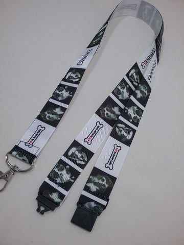 Border Collie dogs sheepdog puppies patterned ribbon Lanyard it has a safety breakaway fastener with swivel lobster clasp lanyard id or whistle holder