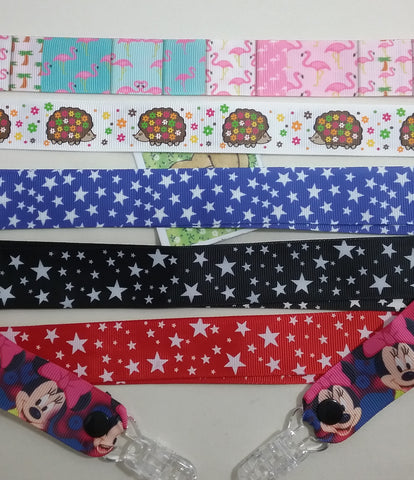 1 x pair of childs MITTEN CLIPS GLOVE SAVERS 5 different patterns HEDGEHOG FLAMINGO STARS glove clips for boys or girls