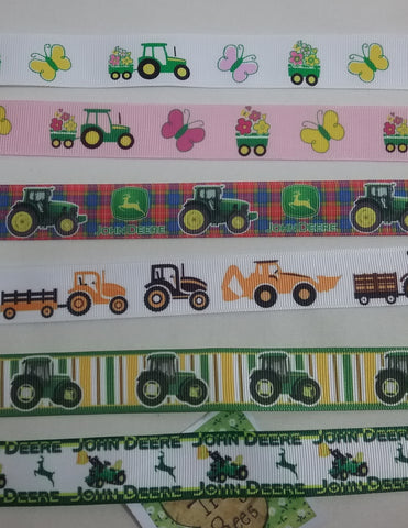 1 x pair of childs MITTEN CLIPS 6 different TRACTOR patterns to choose from glove clips boys girls you choose which design