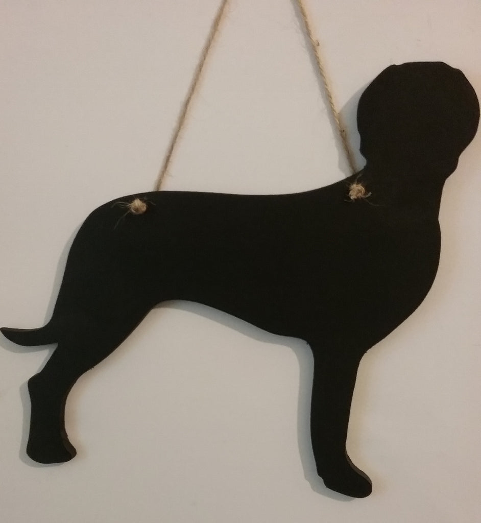 Weimaraner Dog Shaped Chalk board Blackboard lovely for birthday or for Christmas gifts - Tilly Bees