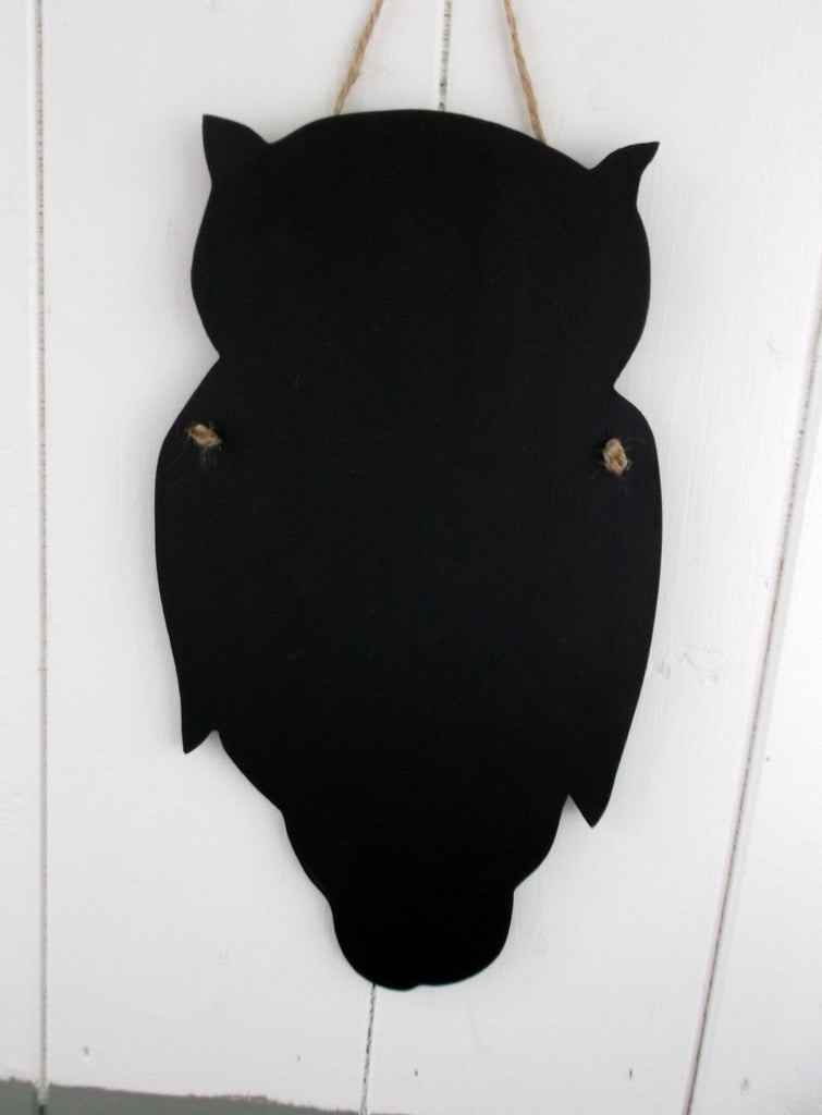OWL shaped chalk board blackboard wildlife garden kitchen memo message sign - Tilly Bees