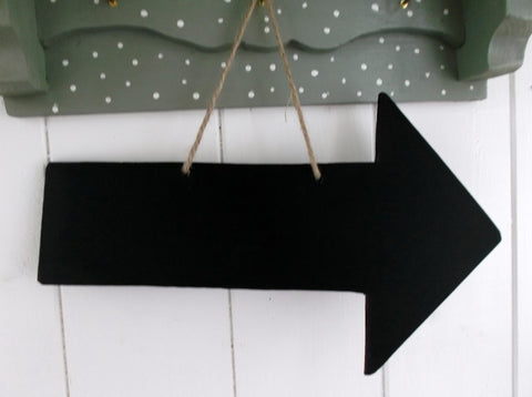 "ARROW 12"" long Shaped Chalkboard this way direction sign wedding supplies"