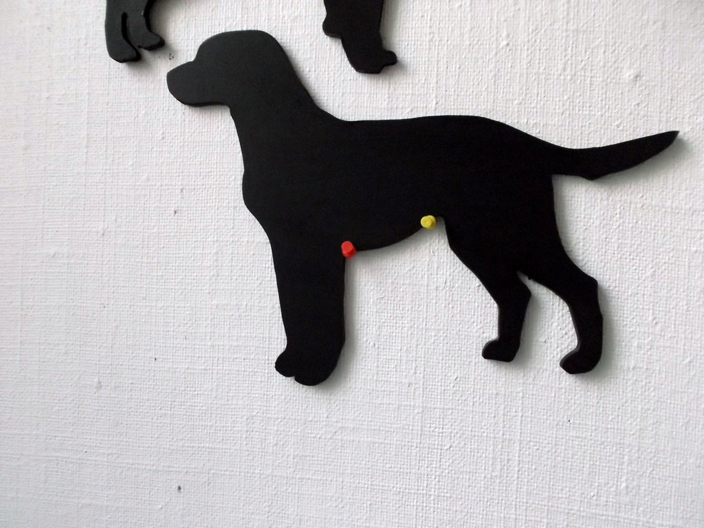 Labrador Retriever Dog Shaped Black Chalkboard Christmas Birthday gift present pet supplies