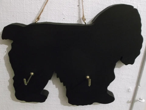 AMERICAN COCKER SPANIEL DOG shaped Key / Lead holder chalkboard surface Pet Supplies puppy