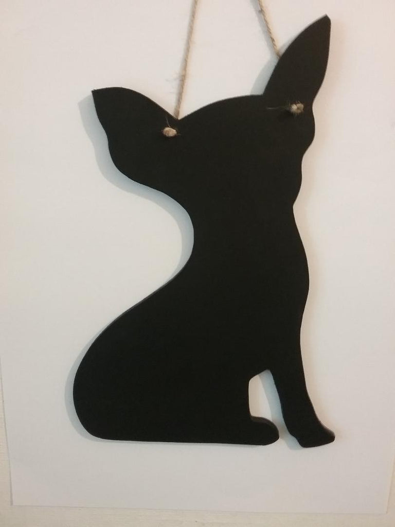 NEW Sitting Chihuahua Dog Shaped Blackboard Chalkboard Christmas or Birthday gift - Tilly Bees