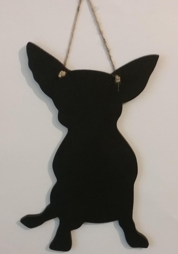 NEW Cute Chihuahua Dog Shaped Blackboard Chalkboard Christmas or Birthday gift - Tilly Bees