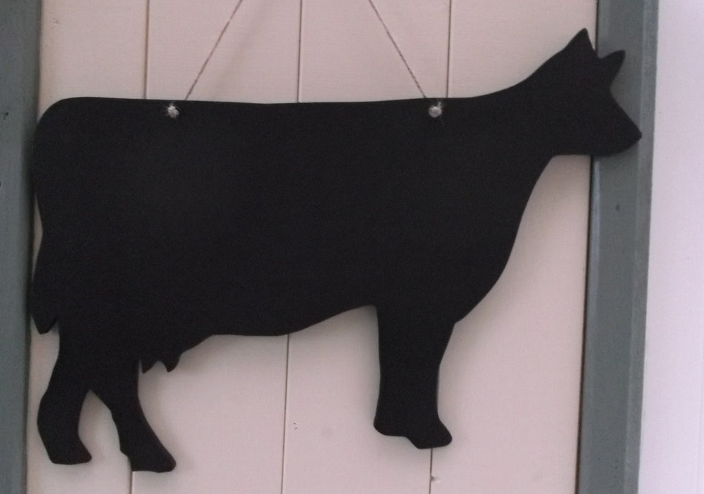 DAIRY COW shaped chalk boards Farm animal & pet Pig Sheep Butchers shop pet supplies 18 x 13 inch - Tilly Bees