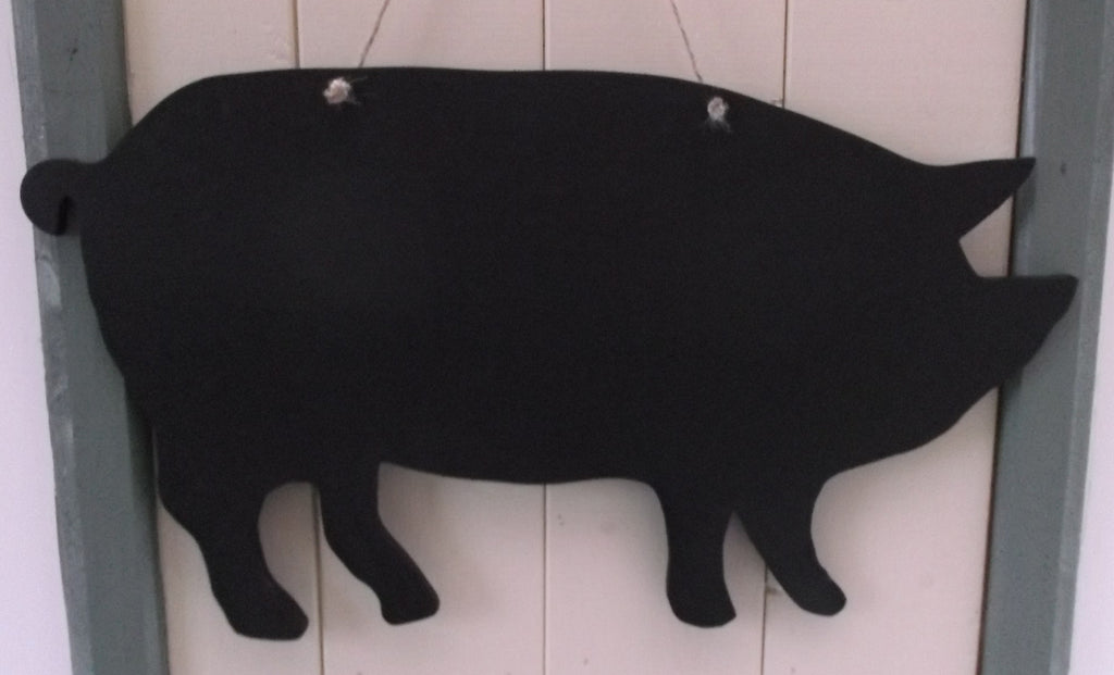 Pig shaped chalk boards Farm animal & pet Pig Sheep Butchers shop pet supplies 17 x 10.5 inches - Tilly Bees