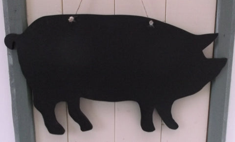 Pig shaped chalk boards Farm animal & pet Pig Sheep Butchers shop pet supplies 17 x 12.5 inches