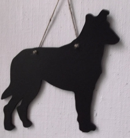 Collie smooth collie / Sheep Dog - Dog Shaped Black Chalkboard unique handmade gift
