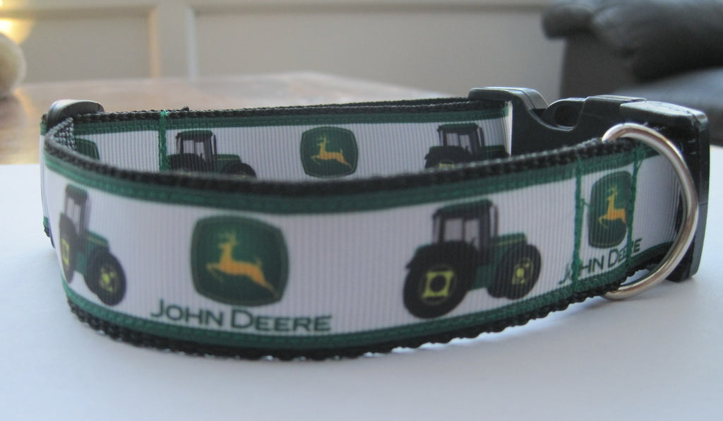 GREEN Tractor handmade dog collar 4 sizes Like John Deere Class colour