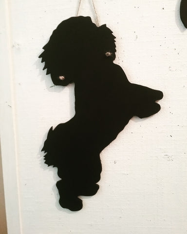 Bichon Frise puppy Dog Shaped Black Chalkboard pet supplies Christmas dog lover gift
