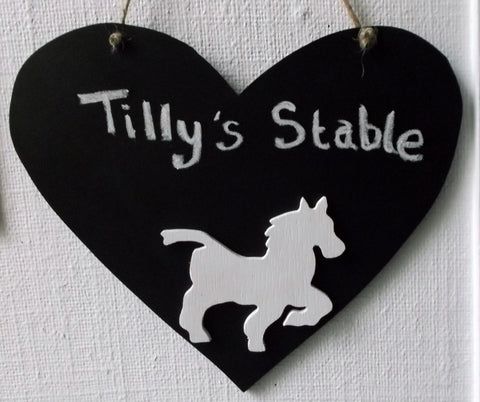 Stable or tack room signs chalkboards. Horse Pony will make DO NOT DISTURB signs. Ideal gift for your horse mad friend Pet Supplies