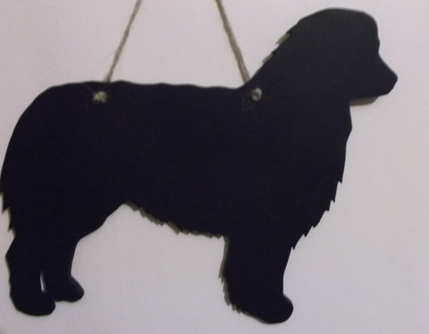 Australian Shepherd Dog Shaped Chalk board Blackboard message memo board pet supplies