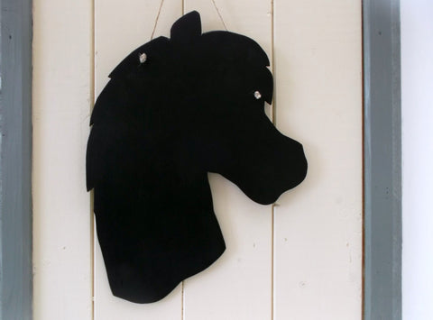 Horse Head Shaped Chalk Board pet supplies pony equestrain supplies tack room teenager present Christmas