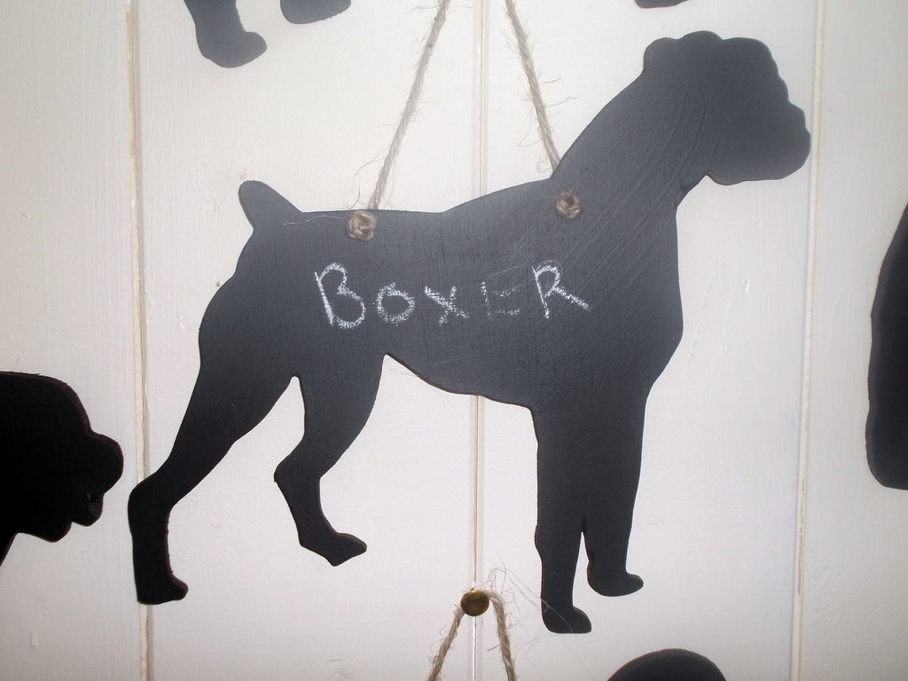 Boxer Dog Shaped Black Chalkboard Unique handmade gift - Tilly Bees