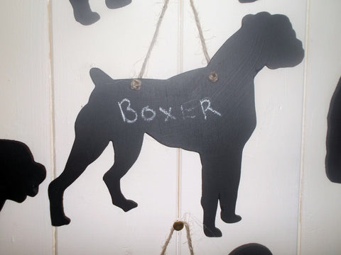 Boxer Dog Shaped Black Chalkboard Unique handmade gift