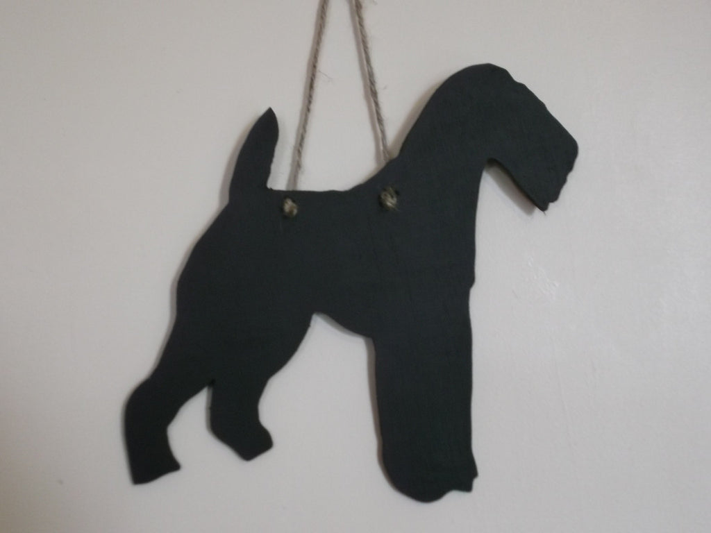 Airedale Dog Shaped Blackboard Chalk board Unique handmade memo board pet supplies - Tilly Bees