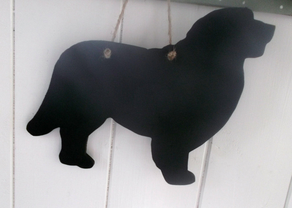 Bernese Mountain Dog Shaped Black Chalkboard pet puppy unique gift for Christmas