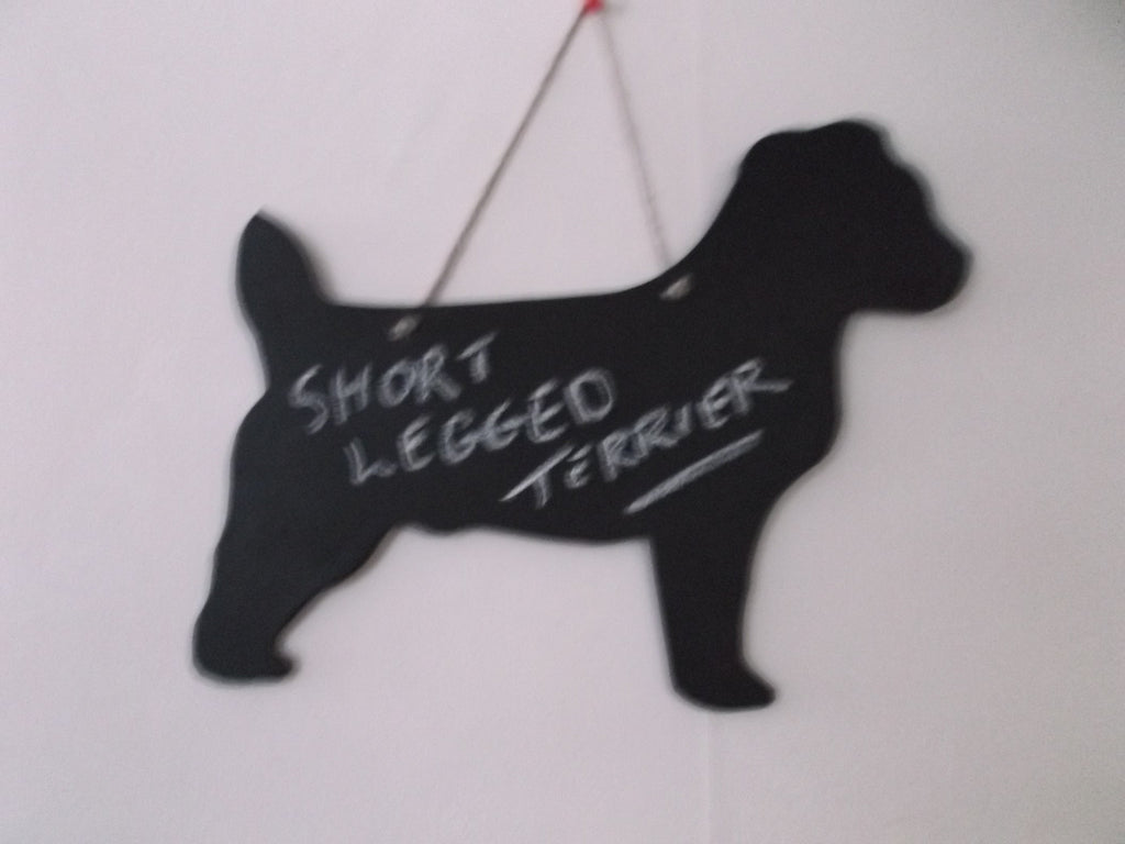 Jack Russell Short Legged Terrier type Dog Shaped Black Chalkboard pet supplies - Tilly Bees