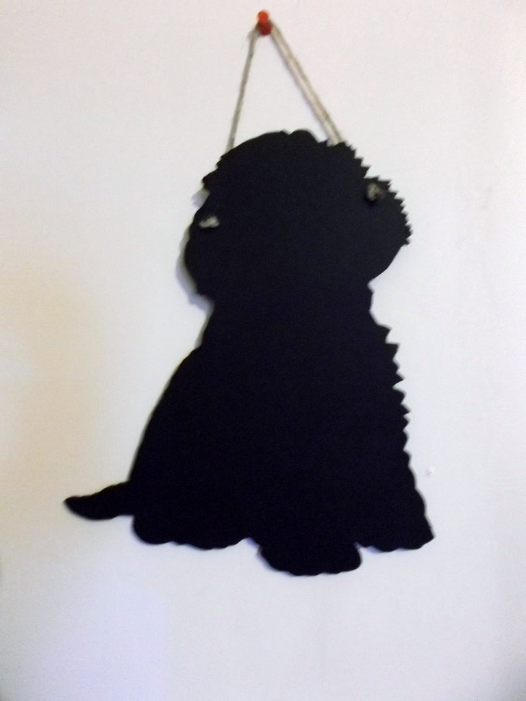 Cockerpoo Dog Shaped Blackboard Chalk board poodle / cocker spaniel unique handmade gift - Tilly Bees