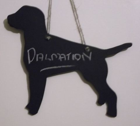 DALMATION Dog Shaped Black Chalkboard Lead or key holder leash hanger dog grooming salon accessory pet supplies