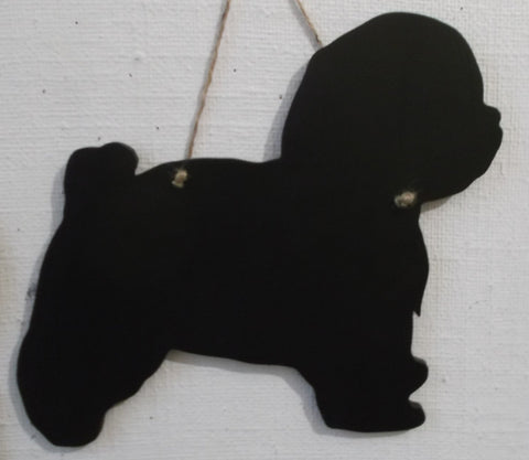 Bolognese Dog Shaped Chalk board Blackboard