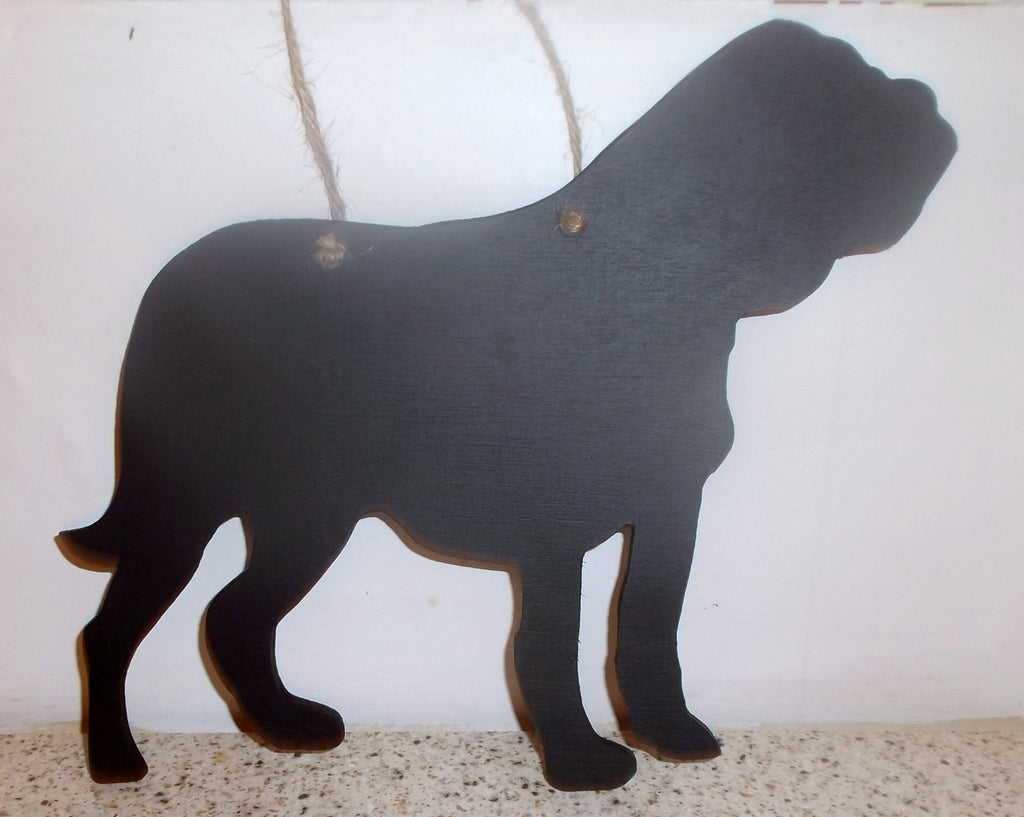 Dogue De Bourdeaux Dog Shaped Black Chalkboard Christmas Birthday gift present - Tilly Bees