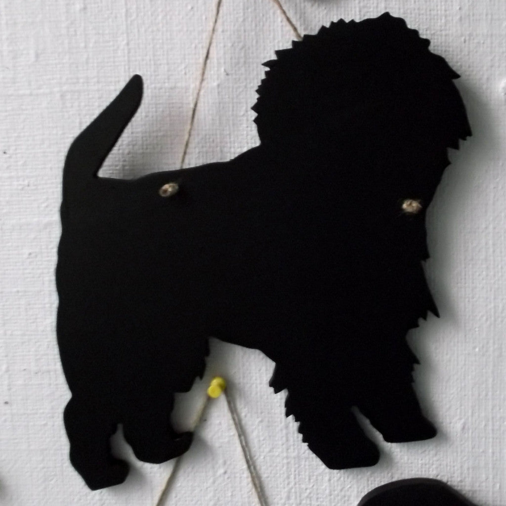 AffenpincherDog Shaped Chalk board Blackboard kennel sign club board pet puppy name - Tilly Bees