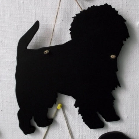 AffenpincherDog Shaped Chalk board Blackboard kennel sign club board pet puppy name