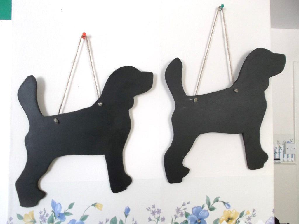 Beagle dog shaped chalk board blackboard unique handmade gift pet supplies - Tilly Bees