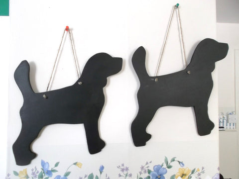 Beagle dog shaped chalk board blackboard unique handmade gift pet supplies