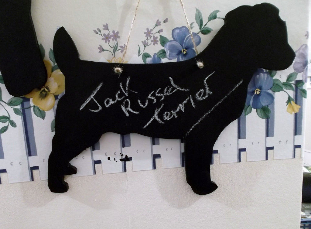 Jack Russell Terrier type Dog Shaped Black Chalkboard Blackboard pet supplies - Tilly Bees
