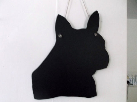 French Bulldog head Dog Shaped Black Chalkboard Christmas Birthday gift present pet supplies