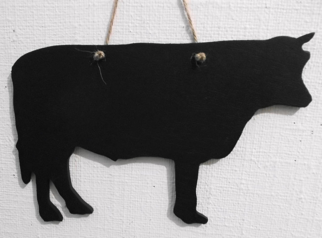 BULL shaped chalkboard Farm animal handmade blackboards any shape can be made to order - Tilly Bees