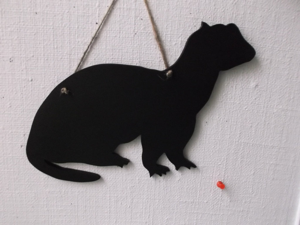FERRET PET shaped chalk boards lots of novelty animals and shapes to choose from pet supplies - Tilly Bees