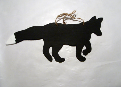 Fox shaped chalk board blackboard wildlife garden kitchen memo message sign