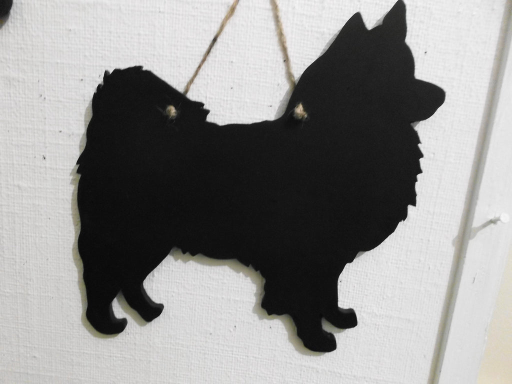 Spitz Dog Black Chalkboard Christmas or Birthday gift Unique novelty gift for Christmas or birthday - Tilly Bees