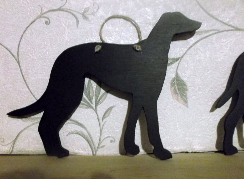 Greyhound Dog (A) Shaped Black Chalkboard Christmas Birthday gift present pet supplies - Tilly Bees